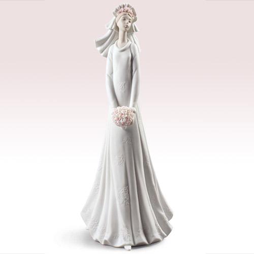リヤドロ LLADRO 晴れの日 16329 陶器人形 置物 花嫁 新婦 ブライダル ウエディング
