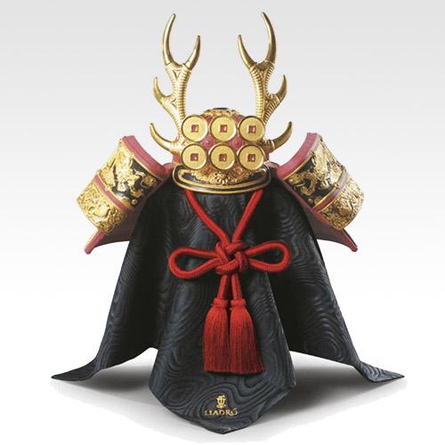 LLADRO リヤドロ 兜(Red) 13048 陶器人形 置物 五月人形 端午の節句 初節句