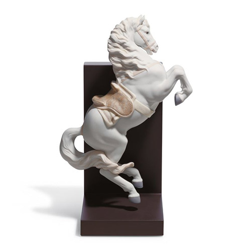 リヤドロ LLADRO 跳躍 18254 陶器人形 置物 馬 コーポレートギフト