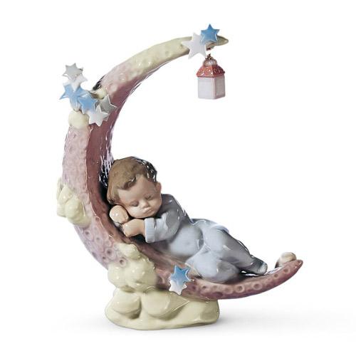 リヤドロ LLADRO お月さまのベッド 6479 陶器人形 置物 赤ちゃん 男の子 出産祝い