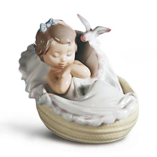 リヤドロ LLADRO 私の夢 6710 女の子 陶器人形 置物 出産祝い 内祝い