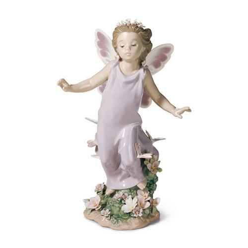 リヤドロ LLADRO 蝶の妖精 6875 陶器人形 置物 花