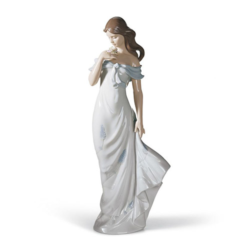 リヤドロ LLADRO 甘い香り 6918 陶器人形 置物 乙女 女性 貴婦人 花