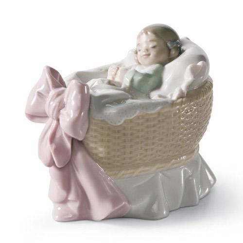 リヤドロ LLADRO スイートベイビー(女の子) 6977 陶器人形 置物 出産祝い 内祝い