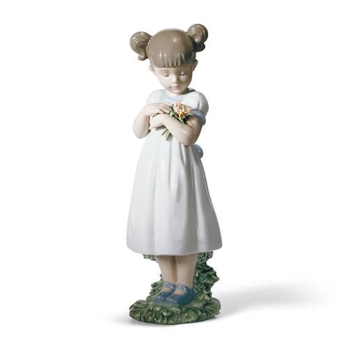 LLADRO リヤドロ 素敵なお花 8021 陶器人形 置物 花 少女 女の子