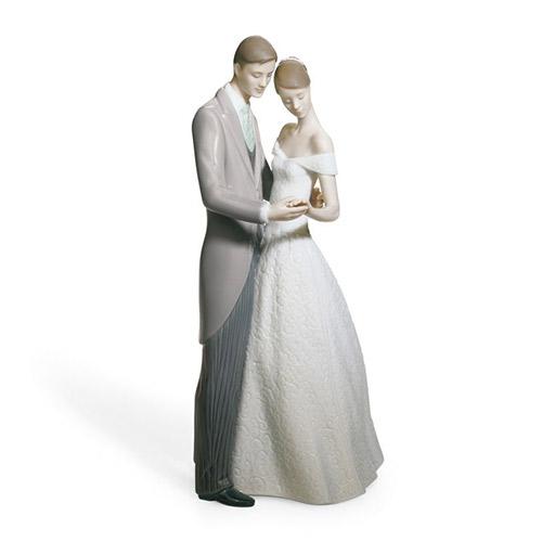 LLADRO リヤドロ いつまでも 8107 陶器人形 置物 カップル ウェディング ブライダル 結婚祝い