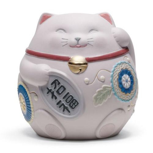 リヤドロ LLADRO 招き猫(Pink) 8530 陶器人形 置物