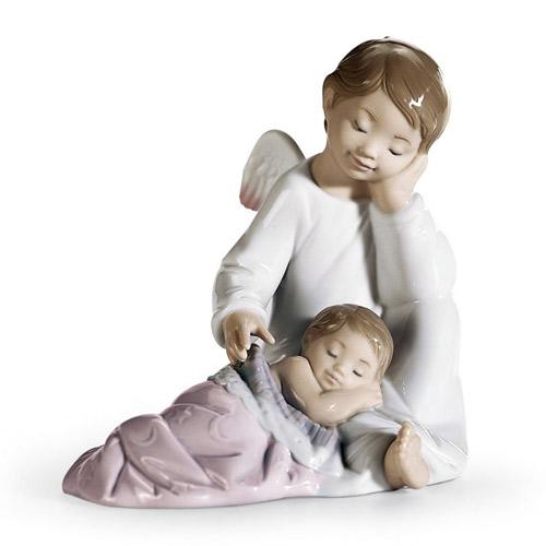 リヤドロ LLADRO 守ってあげるよ(女の子) 8549 陶器人形 置物 天使