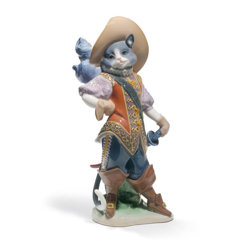 全店販売中 リヤドロ LLADRO 長靴をはいた猫 8599 置物 動物 リアドロ 陶器人形 出群