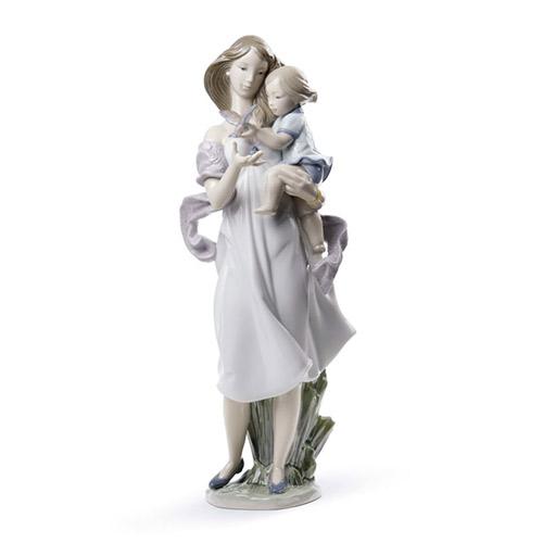 LLADRO リヤドロ ママ、見て! 8715 陶器人形 置物 母と子