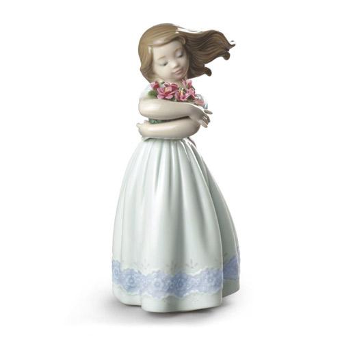 LLADRO リヤドロ さわやかな風(スペシャルバージョン) 9216 陶器人形 置物 花 少女 カーネーション