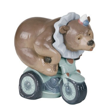 NAO ナオ I DO TRICKS 1495 陶器人形 置物 リヤドロ姉妹ブランド クマ サーカス