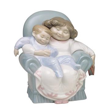 NAO ナオ STORIES WITH GRANDMA 1512 陶器人形 置物 リヤドロ姉妹ブランド 祖母と孫