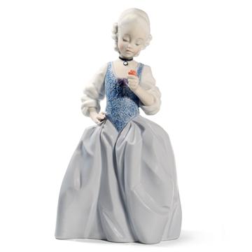NAO ナオ ロココガール(フラワー) 1719 陶器人形 置物 リヤドロ姉妹ブランド 少女