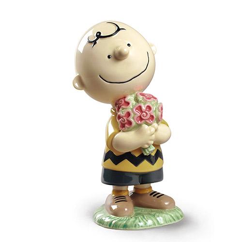 NAO ナオ チャーリー・ブラウン 0532 陶器人形 置物 リヤドロ姉妹ブランド ピーナッツ