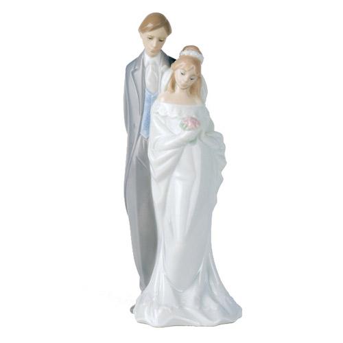 NAO ナオ 愛する二人 1437 陶器人形 置物 リヤドロ姉妹ブランド ブライダル ウェディング 結婚祝い