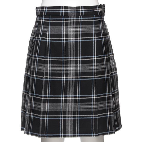 サイドプリーツチェック柄スカート