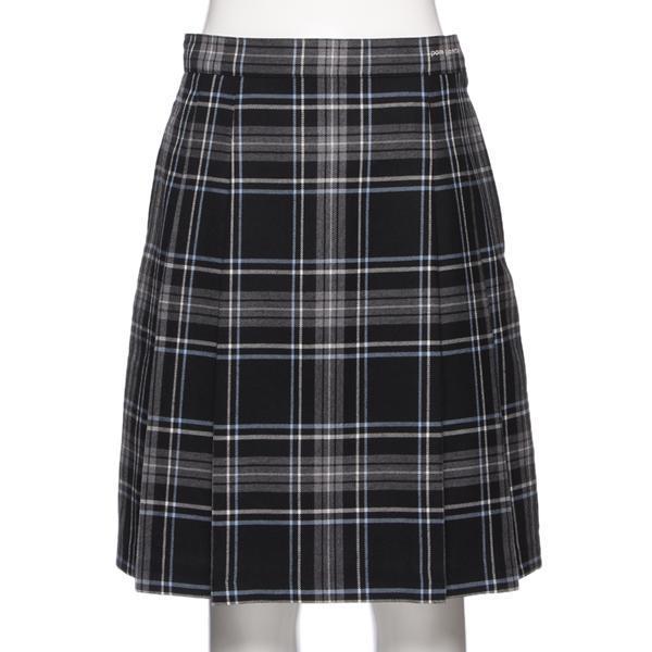 チェック柄サイドプリーツスカート