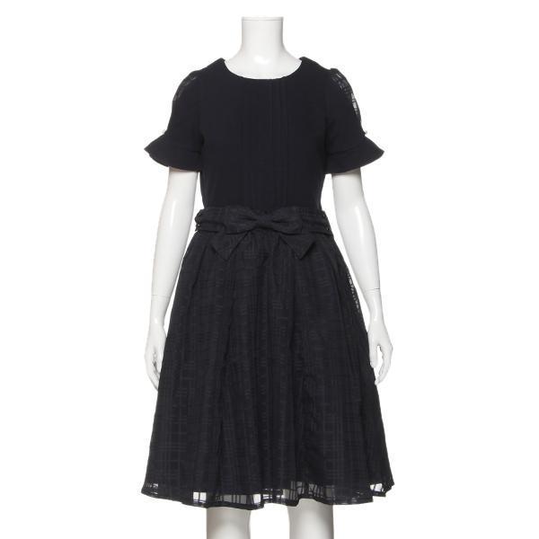 ポンポネットジュニア(pom ponette junior)シアーチェック3WAYドレス