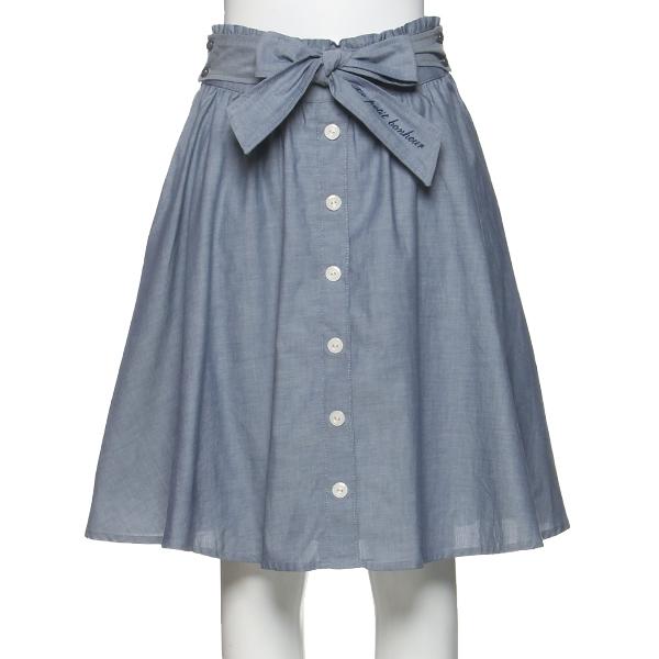 ポンポネットジュニア(pom ponette junior)リボンつきミディ丈スカート