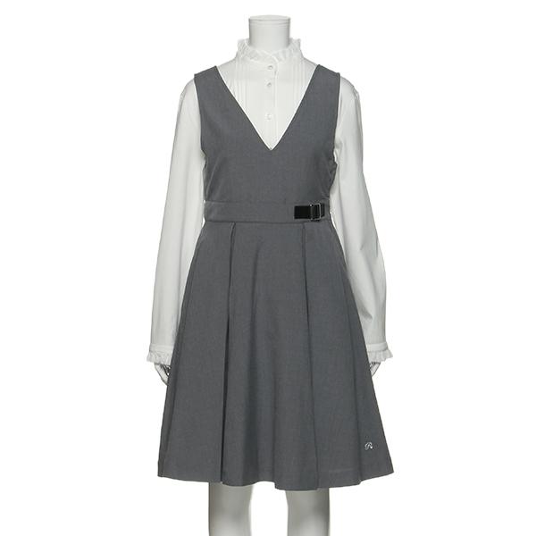ポンポネットジュニア(pom ponette junior)サイドベルトつきジャンパースカート