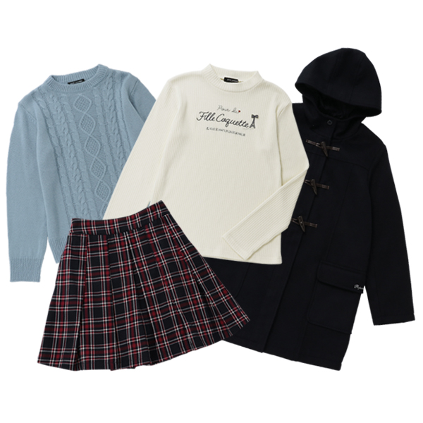 ポンポネットジュニア(pom ponette junior)【2019冬福袋】お出掛けセット