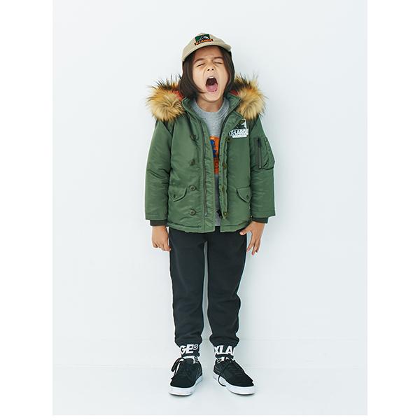 エクストララージ キッズ(XLARGE KIDS)ロゴワッペンつきジャケット