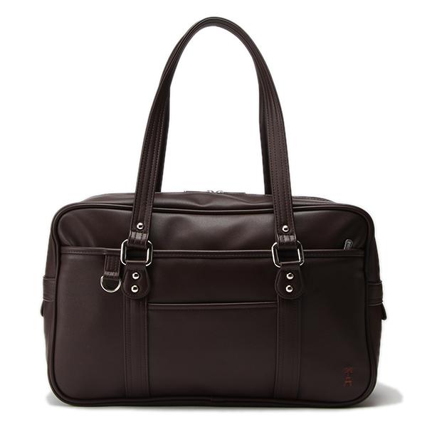 ポンポネットジュニア(pom ponette junior)ワンポイントつきフェイクレザースクールバッグ