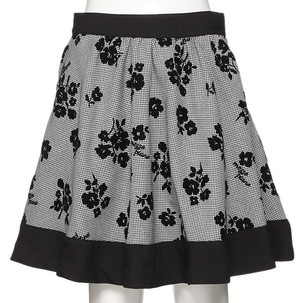 メゾピアノジュニア(mezzo piano junior)花柄フロッキープリントスカート