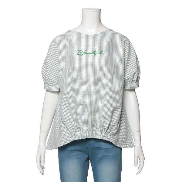 50%OFF SALE O_50 激安 outlet バイ 特売 ラビット LOVEiT by グラフチェックプルオーバー