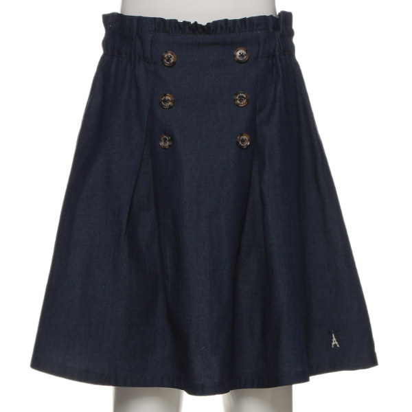 ポンポネットジュニア(pom ponette junior)【トドラーサイズ向け】フロントボタンスカート