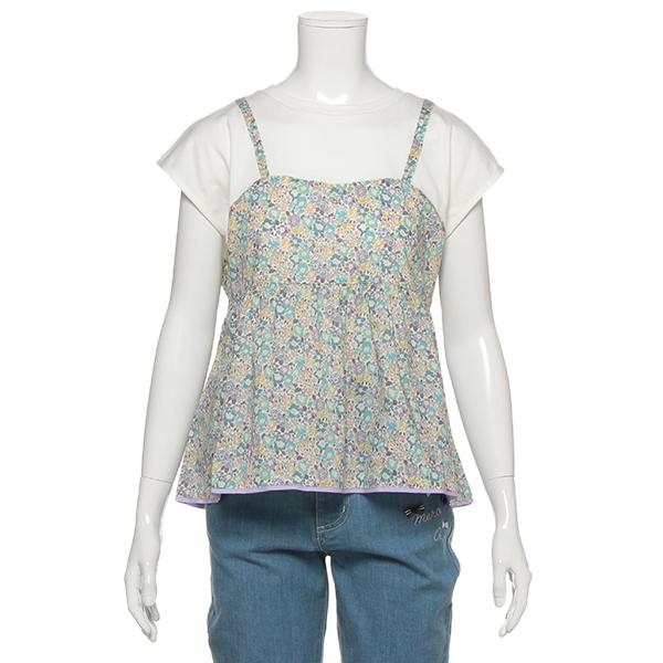 ポンポネットジュニア(pom ponette junior)キャミレイヤード風Tシャツ