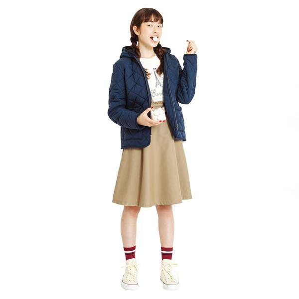 ポンポネットジュニア(pom ponette junior)【S200904】裏起毛 中綿入りキルトジャケット