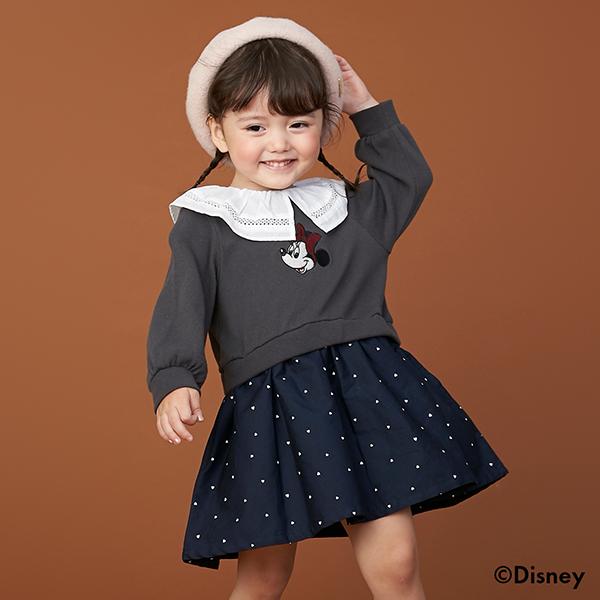 売り出し プティマイン petit main ミニー レース衿ワンピース 商品 Disney