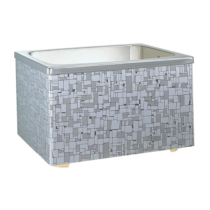 技術とノウハウを結集した ステンレス浴槽 蔵 ナスラック 石垣 320L 据置式 2方全エプロン 右排水 人気