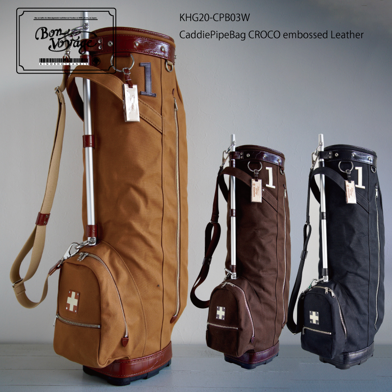 CART BAG  Kinosho Bag 木の庄帆布 Caddie Pipe THE キャディバッグ キャディパイプバッグ カートバッグ Transit