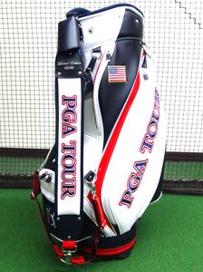 50本限定生産 PGA TOUR 3点式 キャディバッグ 2018モデル PGAツアー プロ PRO モデル ボンマックス USA US 星条旗 シリアルナンバー入り