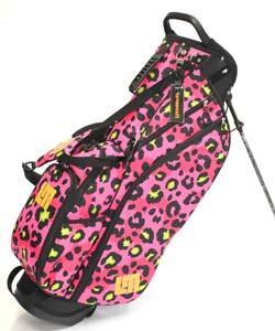 送料無料 LOUDMOUTH Golf Bag ラウドマウス スタンドバッグ 8.5インチ LM-CB0010 246 ネオンチーターピンク (Neon Cheetah Pink)軽量