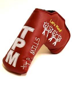T.P. MILLS Let's Play レッツ プレイ  パターカバー TPミルズ 限定 ヘッドカバー  スナップ フィット レッド