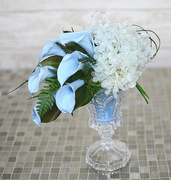 プリザーブドフラワーサムシングブルー誕生祝い、母の日、父の日、敬老の日、結婚祝い