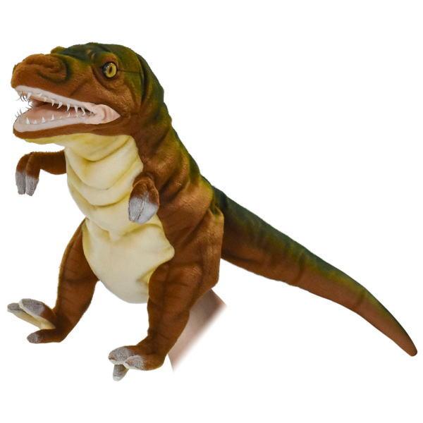 お得 hansa リアルアニマル 動物 そっくり 人気 ふわふわ 指人形 操り人形 HANSA 人形劇 開口 新品■送料無料■ リアルぬいぐるみハンドパペット アース50 恐竜 ハンサ ティラノサウルス