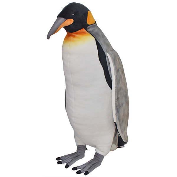hansa もちもち ふわふわ リアルアニマル 動物 そっくり 大人気 ハンサ【HANSA】リアルぬいぐるみキングペンギン80