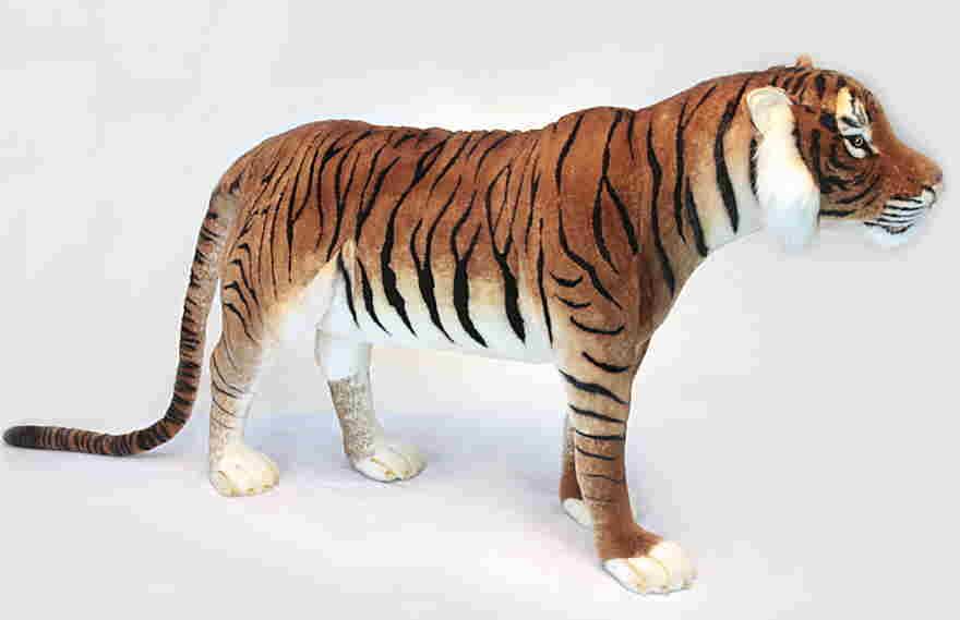 【HANSA】リアルぬいぐるみジャガード織り生地使用 トラ130cm