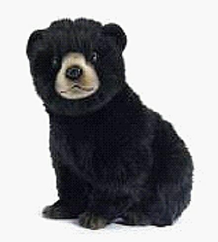 hansa もちもち ふわふわ リアルアニマル 動物 そっくり 大幅値下げランキング 大人気 HANSA 黒グマ セール 登場から人気沸騰 黒24cm リアルぬいぐるみコグマ ハンサ 小熊 クロクマ