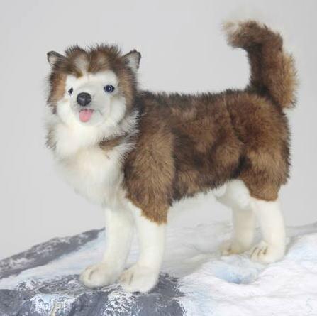 ハンサ【HANSA】リアルぬいぐるみハスキー犬 45cm