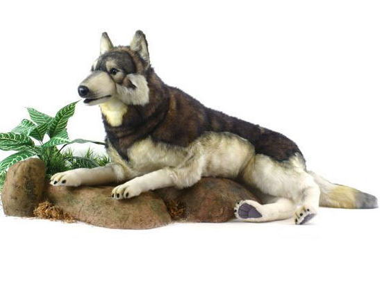 【HANSA】リアルぬいぐるみ森林オオカミ 100cm