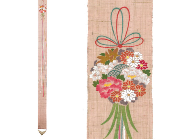 【京都洛柿庵】 桃の節句飾り細タペストリー 薬玉飾り