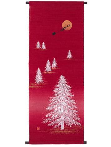 【京都洛柿庵】手染め手描きタペストリー「クリスマス・イヴ」