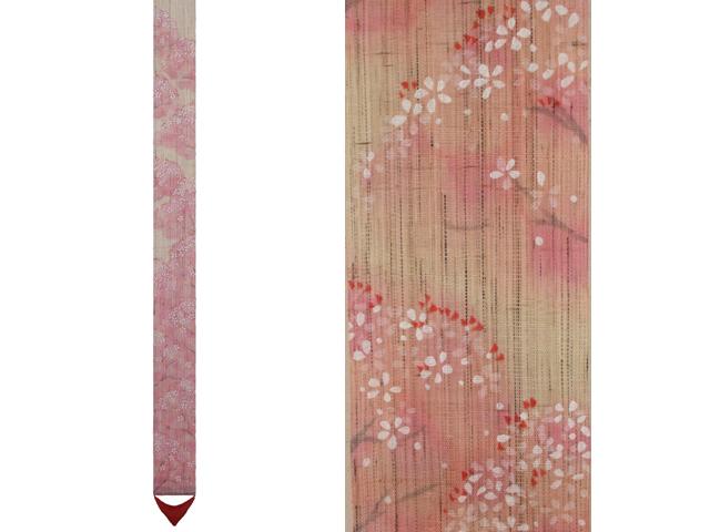 【京都洛柿庵】手染め手描き細タペストリー 桜並木