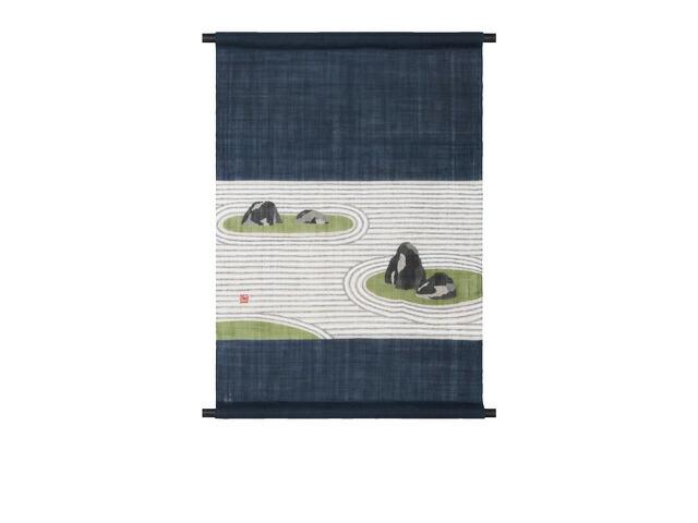 【京都洛柿庵】手描きタペストリー名園 枯山水